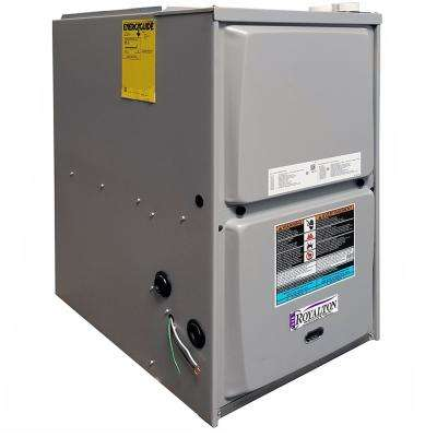44,000 BTU 95% AFUE 2-Stage Downflow Forced Air Natural Gas Furnace with ECM Blower Motor