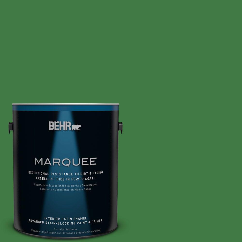 BEHR MARQUEE 1-gal. #M390-7 Hills of Ireland Satin Enamel Exterior Paint