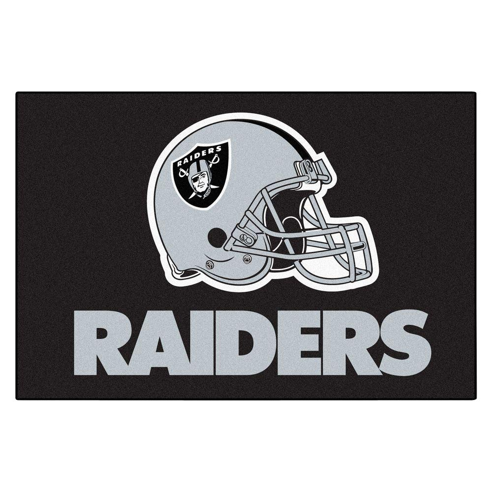 FANMATS Oakland Raiders 19 in. x 30 in. Accent Rug