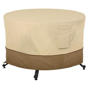 Veranda 56 in. Round Full Coverage Fire Pit Table Cover