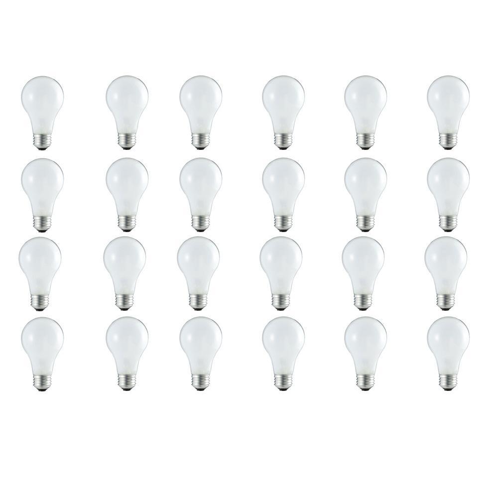 60-Watt Equivalent A19 Dimmable Eco Incandescent Light Bulb (Halogen) Soft White (2920K) (24-Pack)