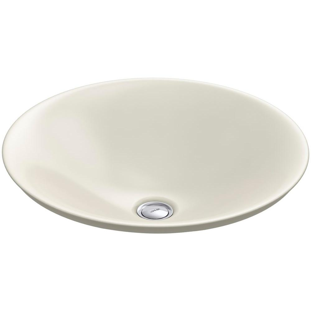 Carillon Wading Pool Above-Counter Vitreous China Bathroom Sink in Biscuit
