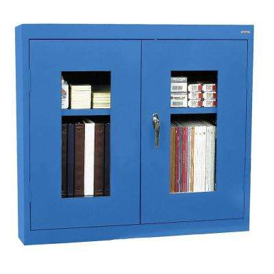26 in. H x 30 in. W x 12 in. D Clear View Wall Cabinet in Blue