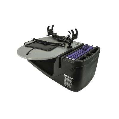 Roadmaster Car Desk with Phone Mount and Printer Stand Gray