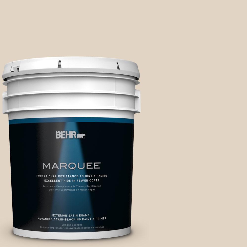 Behr marquee 5 gal ecc 51 2 sand castle satin enamel for Exterior paint satin 5 gal