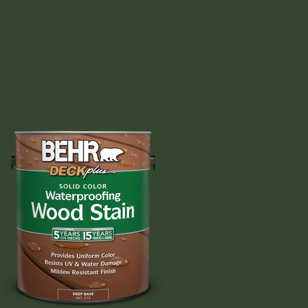 BEHR DECKplus 1 gal. #SC-120 Ponderosa Green Solid Color Waterproofing Wood Stain