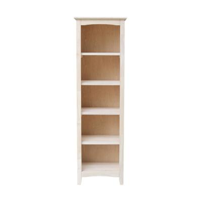Brooklyn 60 in. Unfinished Wood 5 Shelf Standard Bookcase with Adjustable Shelves