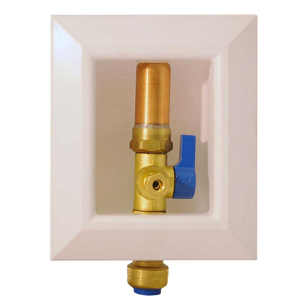 Ice Maker Outlet Box With Water Hammer Arrestor