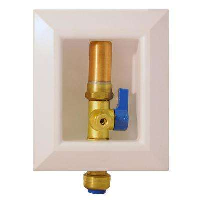 1/2 in. Ice Maker Outlet Box with Water Hammer Arrestor