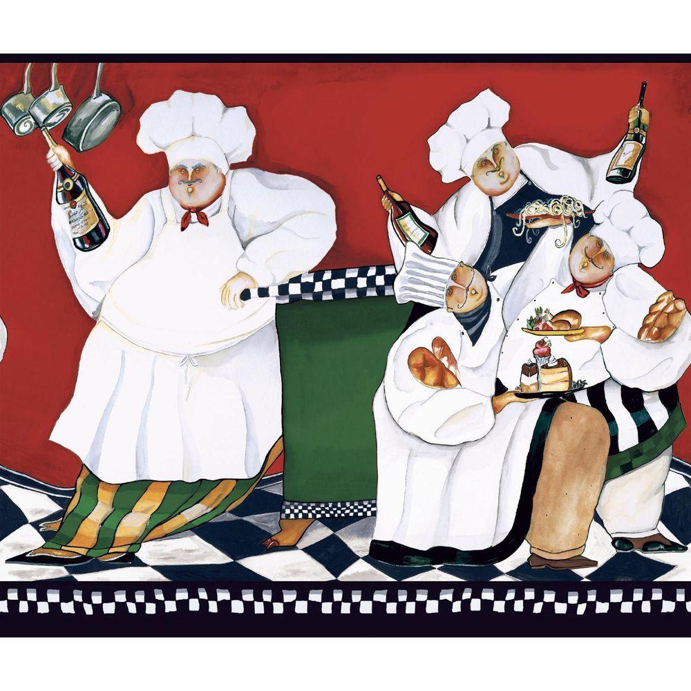 American Classics Chef's A Cookin Wallpaper Border