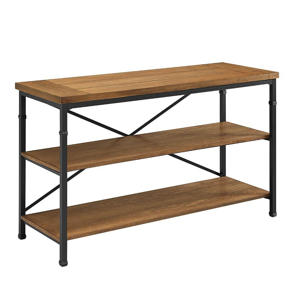 Home Decor Austin: Linon Home Decor Austin Black And Ash Shelved