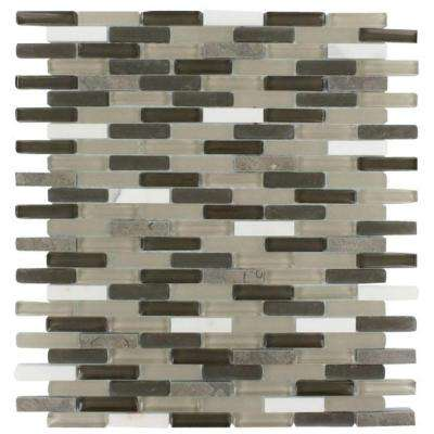 Cleveland Taylor Mini Brick 10 in. x 11 in. x 8 mm Mixed Materials Mosaic Floor and Wall Tile