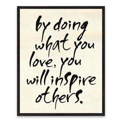 "16 in. x 20 in. ""By Doing What You Love"" by Nikki Chu Wood Wall Art"