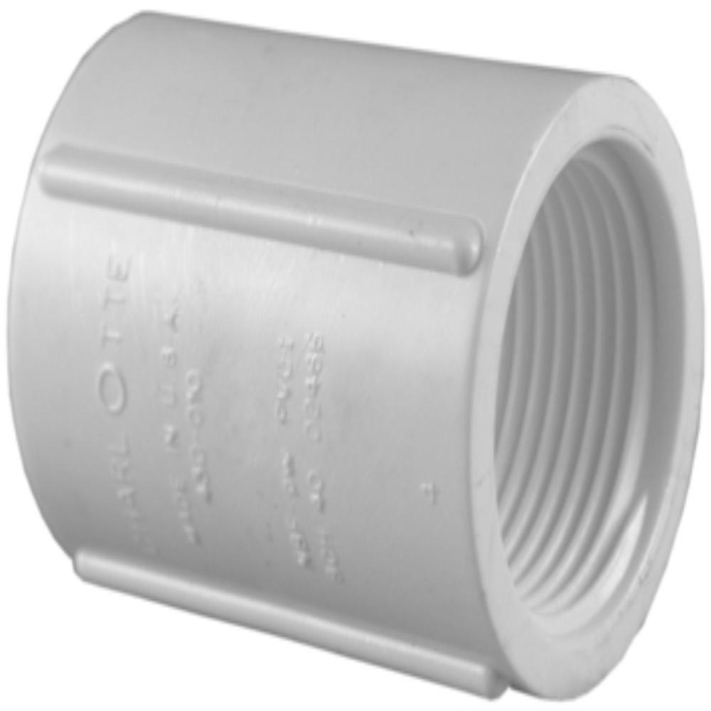 Charlotte Pipe 3 4 In Pvc Schedule 40 Fpt X Fpt Coupling Pvc021020800hd The Home Depot