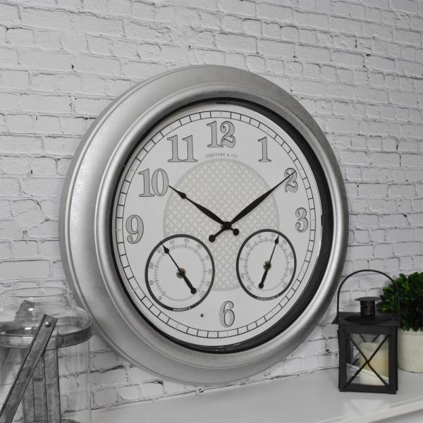 18 in. Radiant LED Outdoor Clock