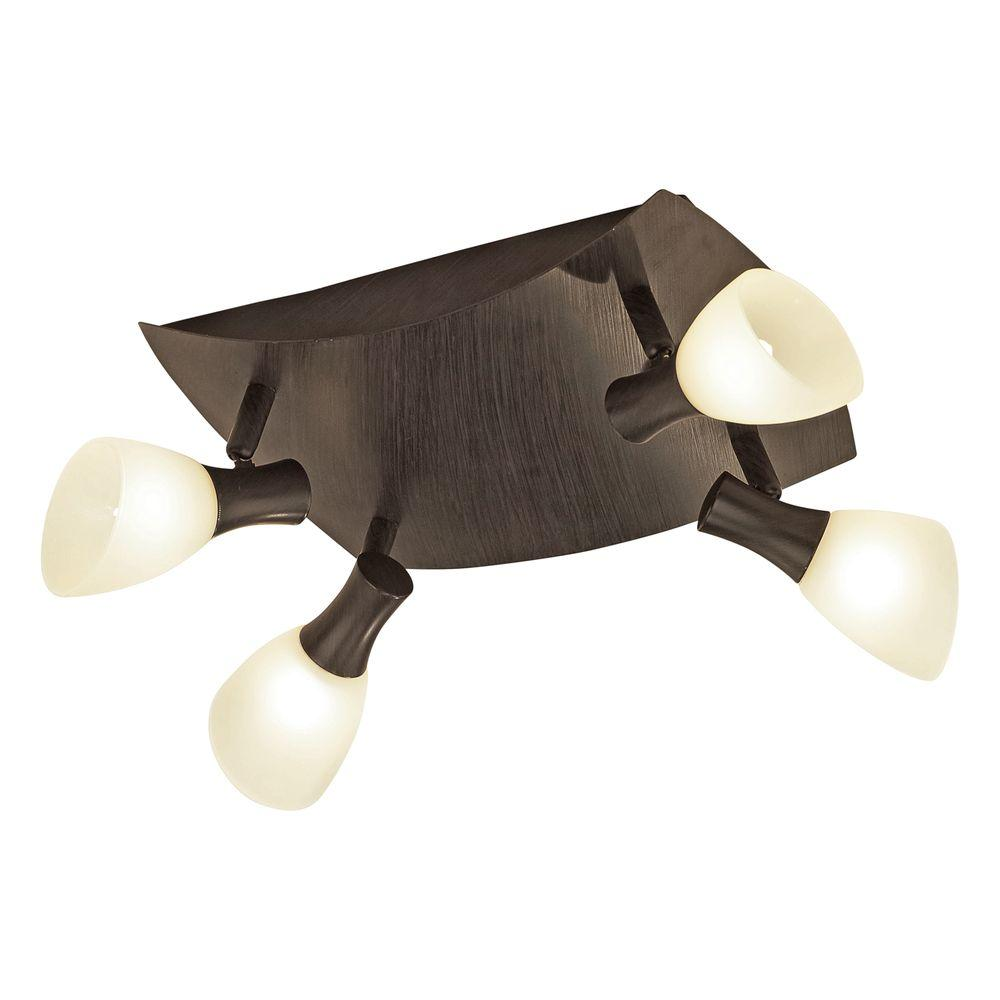 Eglo Ona 1 4-Light Antique Brown Lighting Track