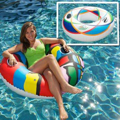 46 in. Spiral and Splash Swimming Pool Sports Tube Combo (2-Pack)