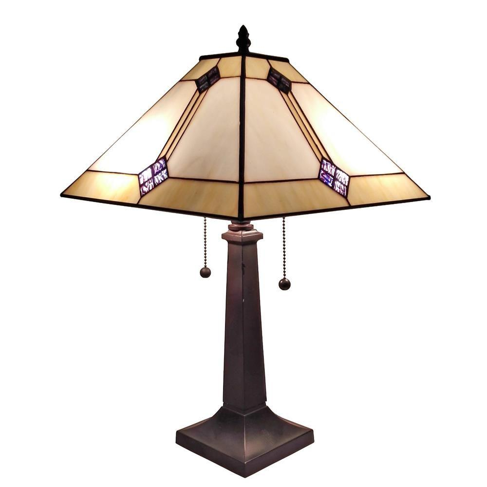 Amora lighting 23 in tiffany style mission design table lamp tiffany style mission design table lamp geotapseo Choice Image