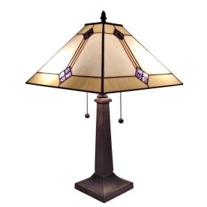 Amora Lighting 23 inch Tiffany Style Mission Design Table Lamp by Amora Lighting