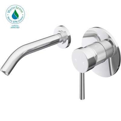 Olus Single Lever Single-Handle Wall-Mount Bathroom Faucet in Chrome