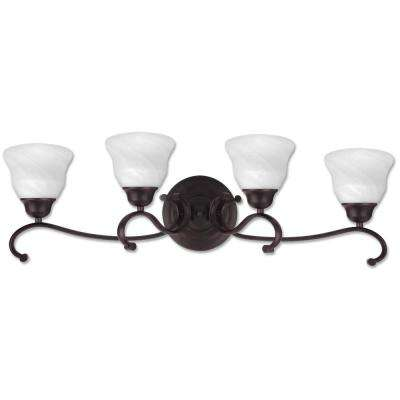 Oregon 4-Light Antique Black Bath Light