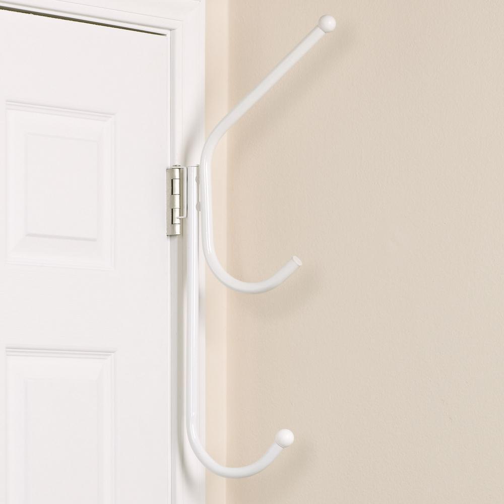 Hinge-It Spacemake Triple Over The Door Hook in White & Household Essentials 25 lb. Hinge-It Spacemake Triple Over The Door ...