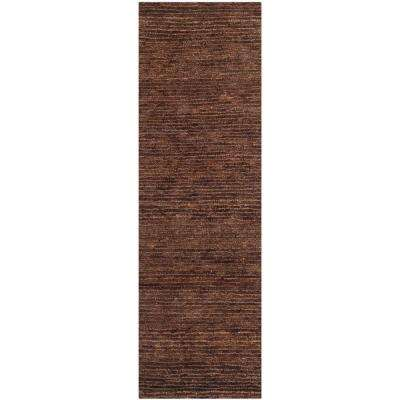 Organica Brown 3 ft. x 10 ft. Runner Rug