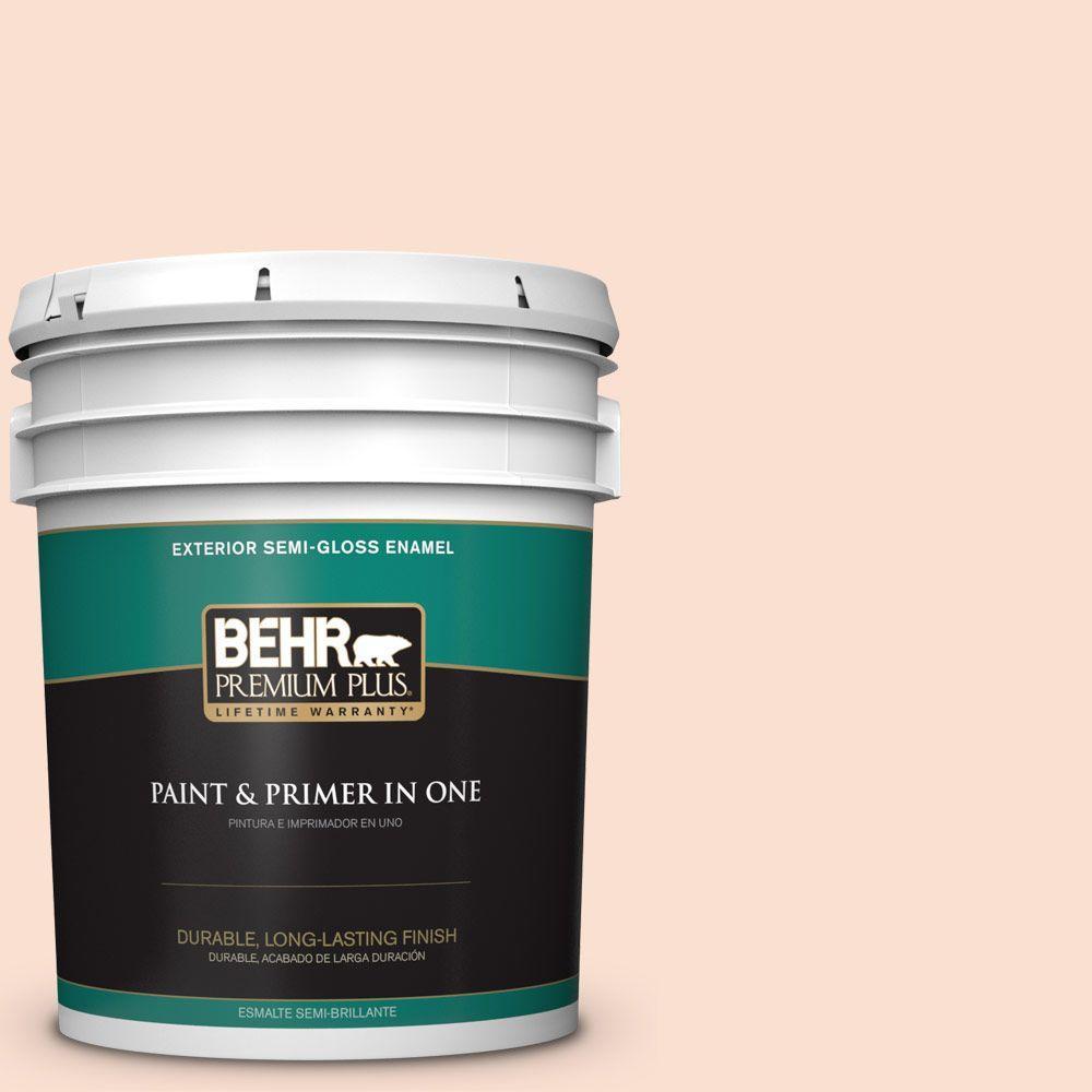 BEHR Premium Plus 5-gal. #260C-1 Autumn White Semi-Gloss Enamel Exterior Paint