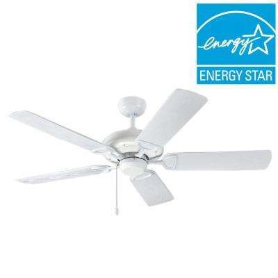 ProSeries Deluxe Builder 52 in. Pure White Outdoor Ceiling Fan