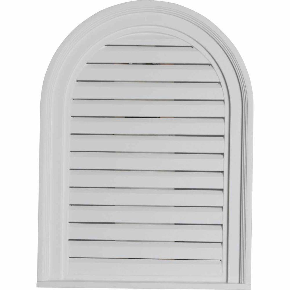 2 in. x 18 in. x 24 in. Functional Cathedral Louver