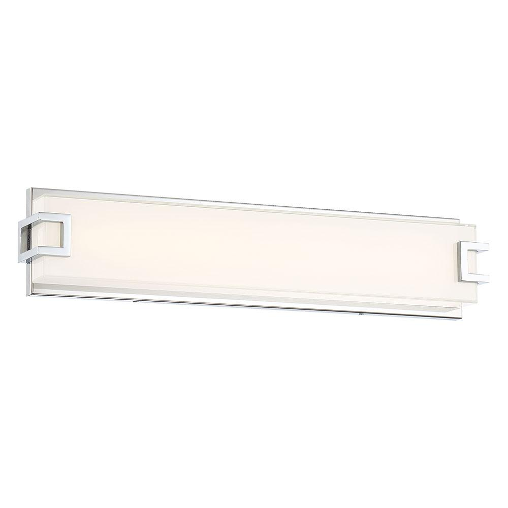 Good Lumens by Madison Avenue 150-Watt Equivalence Chrome Integrated LED Bath Light