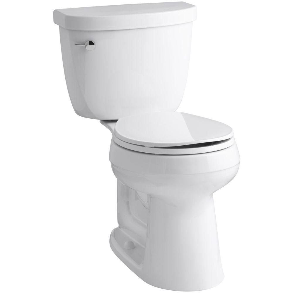 Cimarron Comfort Height 2-Piece 1.6 GPF Single Flush Round Toilet with AquaPiston Flush Technology in White