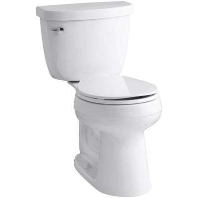 Cimarron Comfort Height 2-Piece 1.6 GPF Single Flush Round Toilet with AquaPiston Flush Technology in White