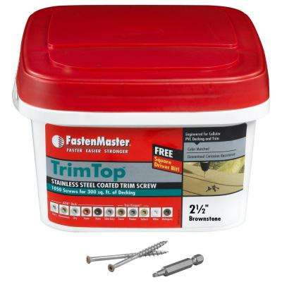 TrimTop 2-1/2 in. Stainless Steel Brownstone Trim Screw (1050 per Pack)