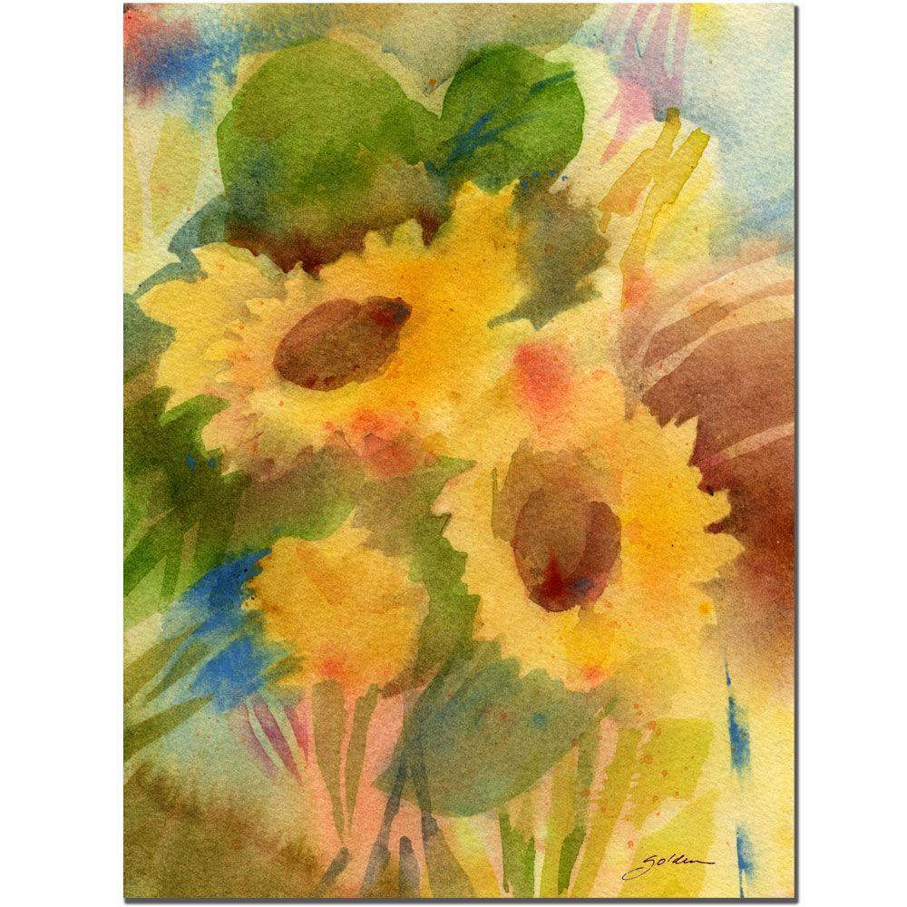 24 in. x 32 in. Garden Sunflowers Canvas Art
