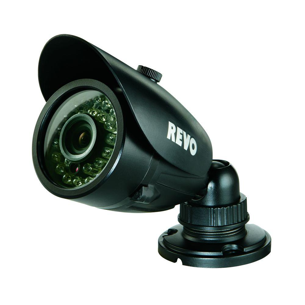 Wired 700 TVL Indoor/Outdoor Bullet Surveillance Camera with 100 ft. Night
