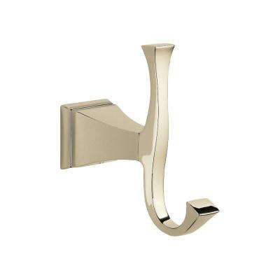 Dryden Double Towel Hook in Polished Nickel