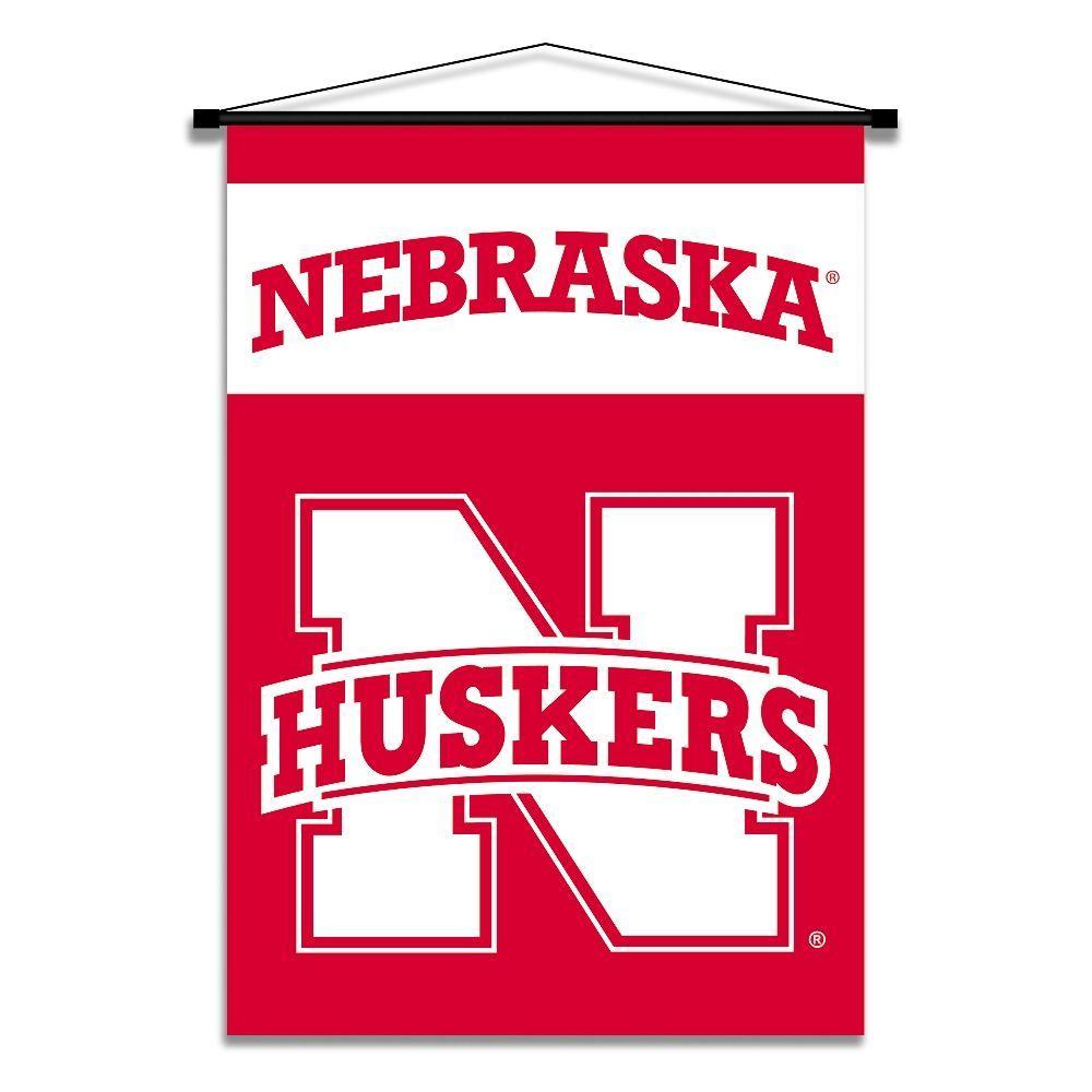BSI Products NCAA Nebraska Cornhuskers 28 in. x 40 in. Indoor Banner Scroll