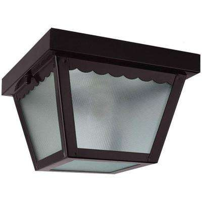 Lacovelli 1-Light Oil Rubbed Bronze Outdoor Flush Mount