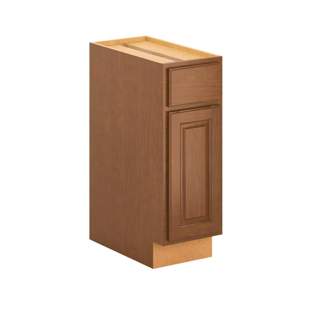 Madison Base Cabinets In Cognac: Hampton Bay Madison Assembled 12x34.5x24 In. Base Cabinet