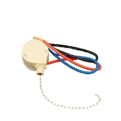 3-Amp Single-Pole 2-Circuit 4-Position (Low-Medium-High-Off) Pull Chain Switch