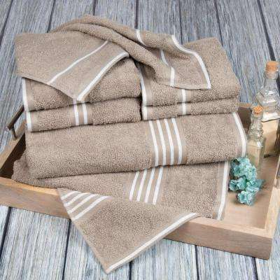 Rio Egyptian Cotton Towel Set in Taupe (8-Piece)