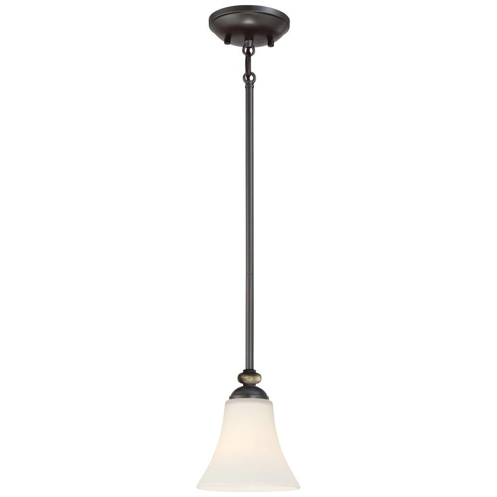 Shadowglen 1-Light Lathan Bronze Mini Pendant