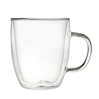 16 oz. Double Glass Coffee Mug