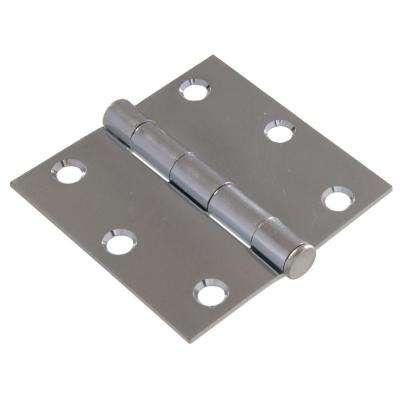 3 in. Zinc Plated General Purpose Broad Hinge with Removable Pin (5-Pack)