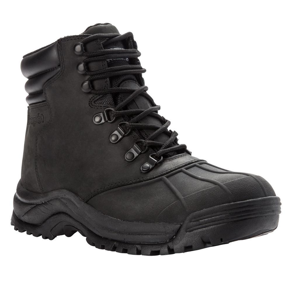 Black Leather Waterproof Winter Boot