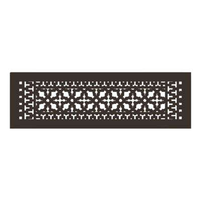 Scroll Series 24 in. x 6 in. Aluminum Grille Oil Rubbed Bronze without Mounting Holes