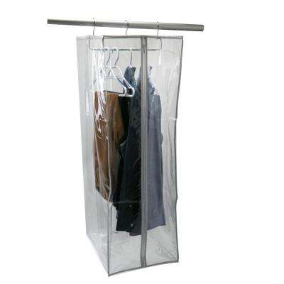 15 in. x 20 in. x 42 in. Crystal Clear Hanging Suit Closet