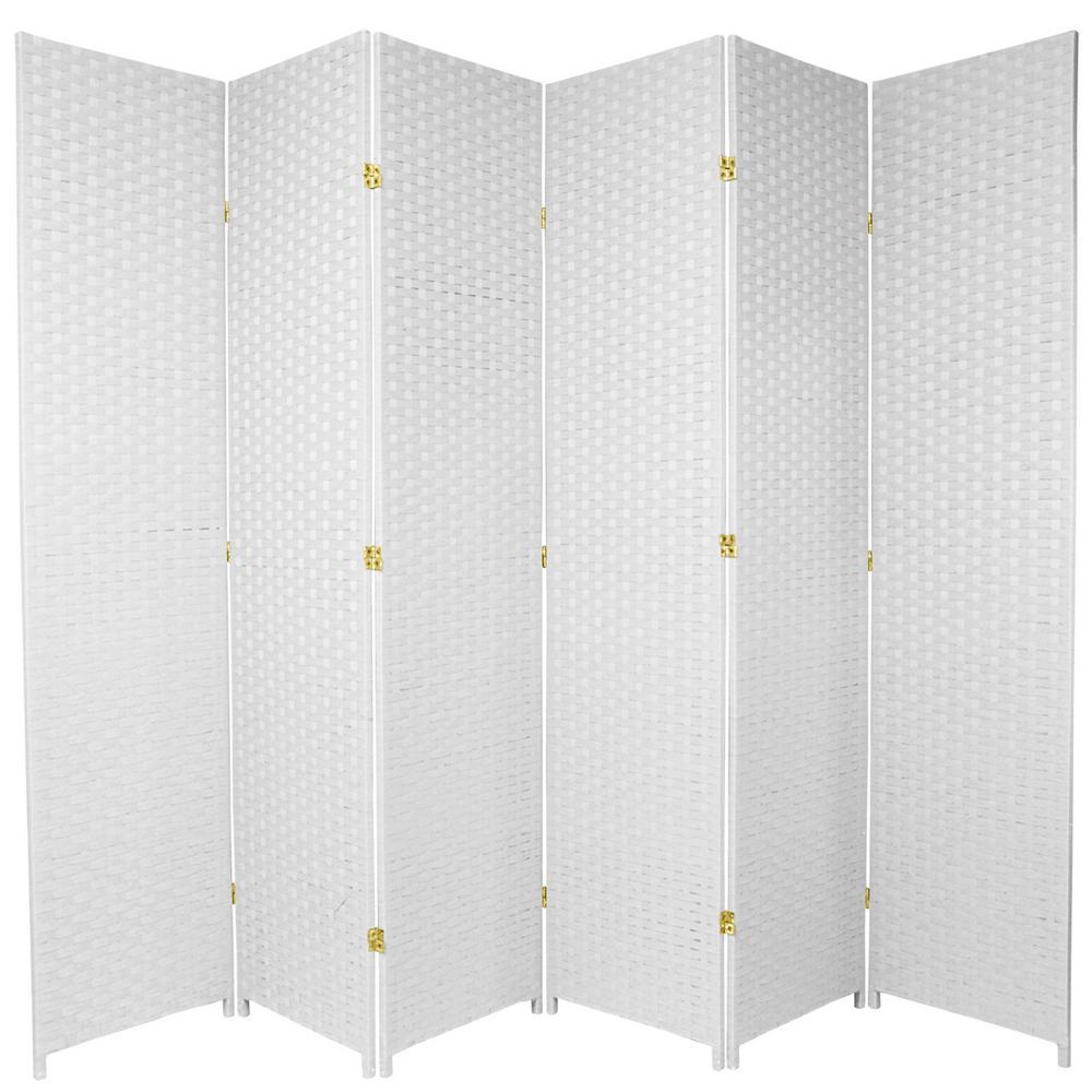7 ft. White 6-Panel Room Divider