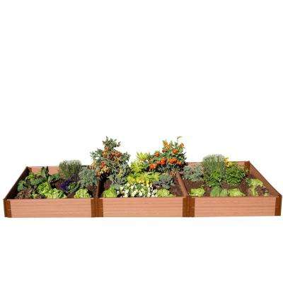 One Inch Series 4 ft. x 12 ft. x 11 in. Classic Sienna Composite Raised Garden Bed Kit
